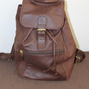 Vintage Coach XL Brown Leather Backpack